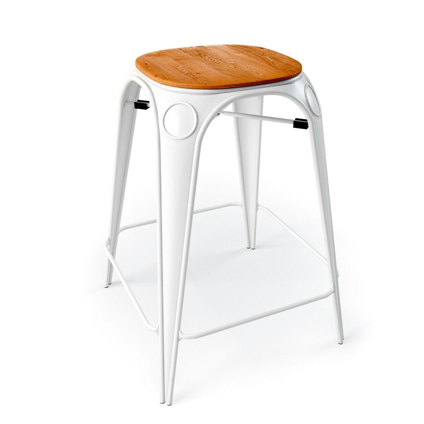 Louix chair High and stool 3D