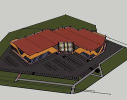 shoping center 3D model