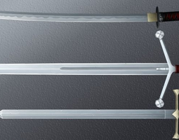 Hand-painted Swords Pack 3D asset