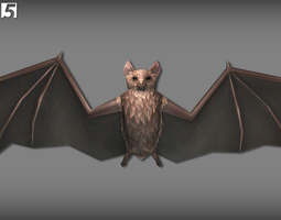 realtime 3d model animated bats pack