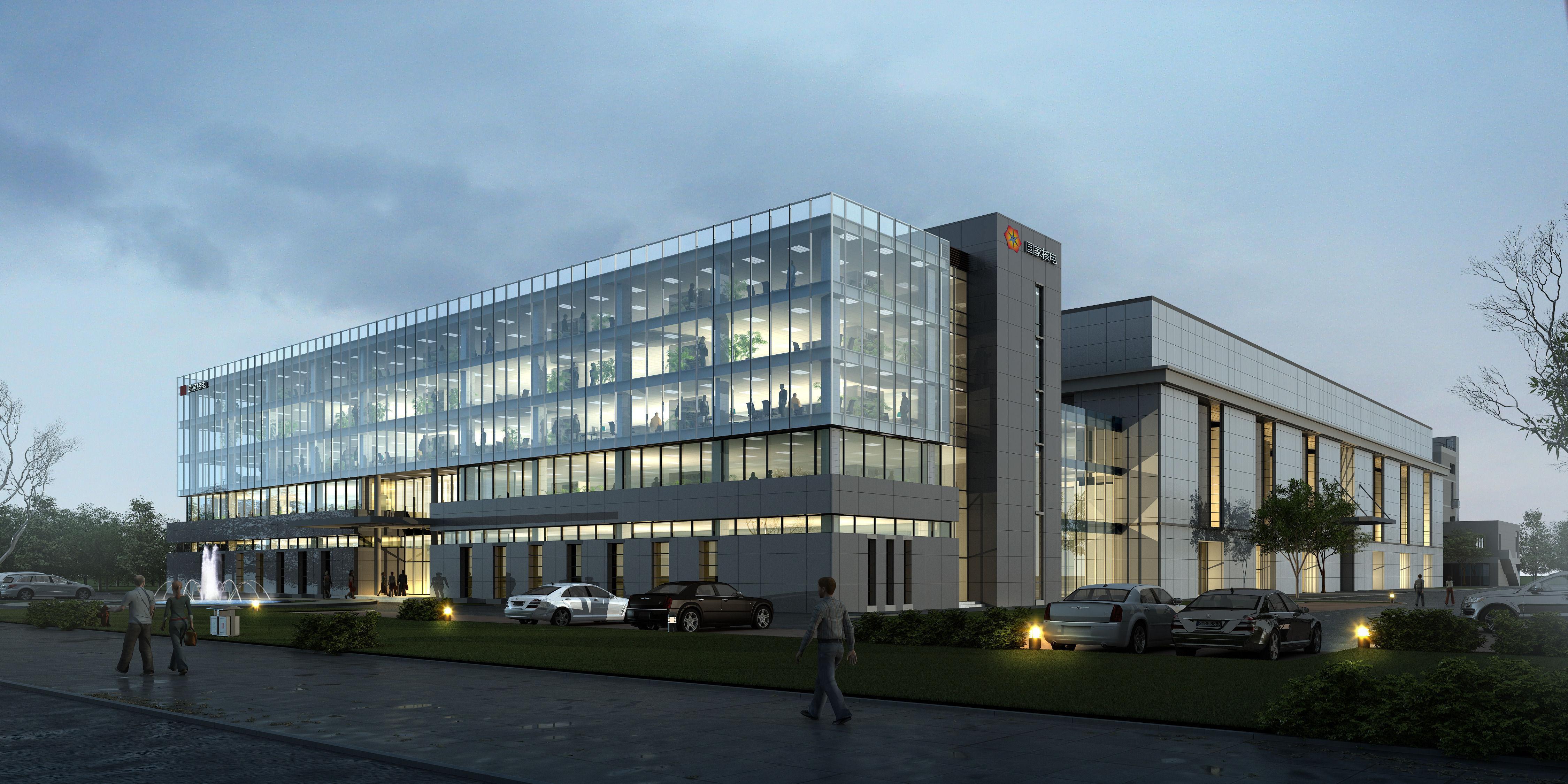exterior office building scene 001 3d model tga