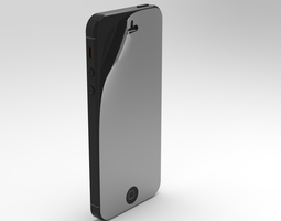 Iphone 5 with privacy screen guard 3D Model
