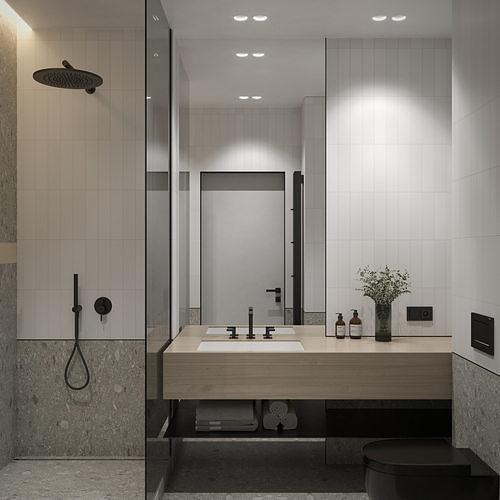 Interior Set 4 Two bathrooms