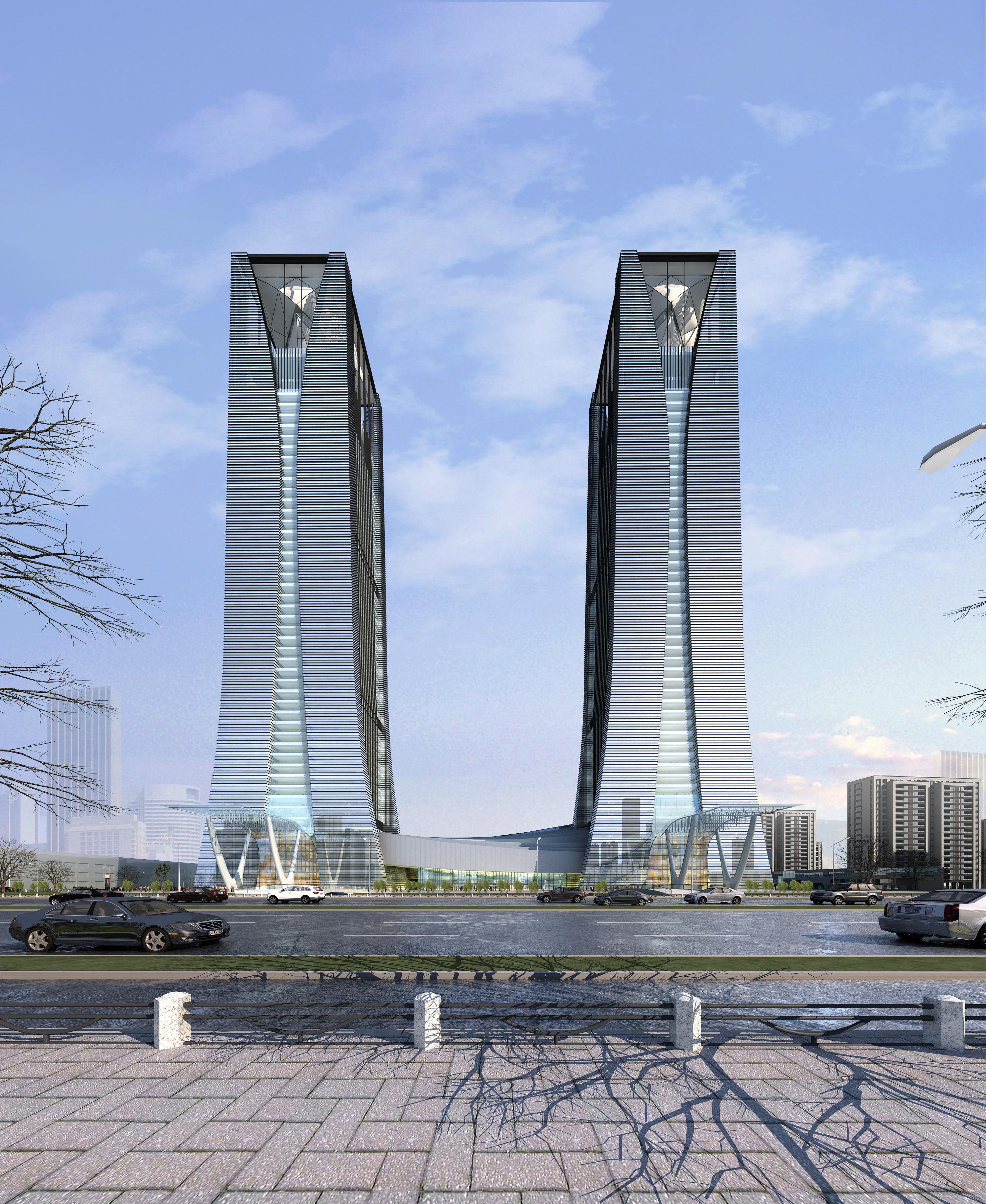 Best Exterior Design App: Exterior Office Building Scene 005 3D