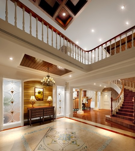 Huge living room 3d model max for Duplex house living room designs