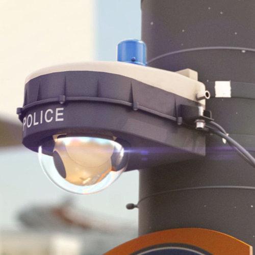 police surveillance camera 3d model max obj mtl 3ds fbx 1