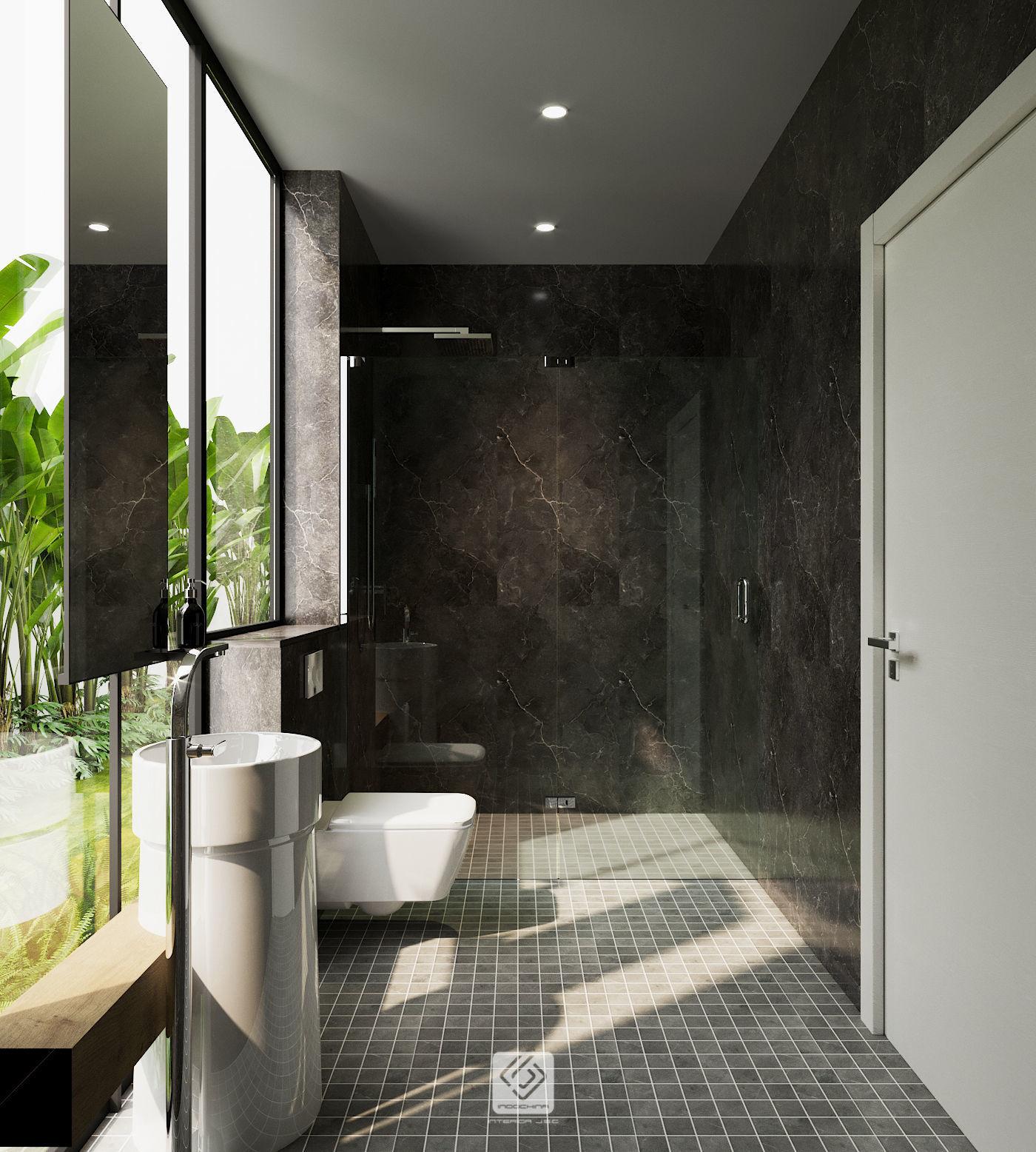 3D Bathroom modern tropical | CGTrader on Model Bathroom  id=22622
