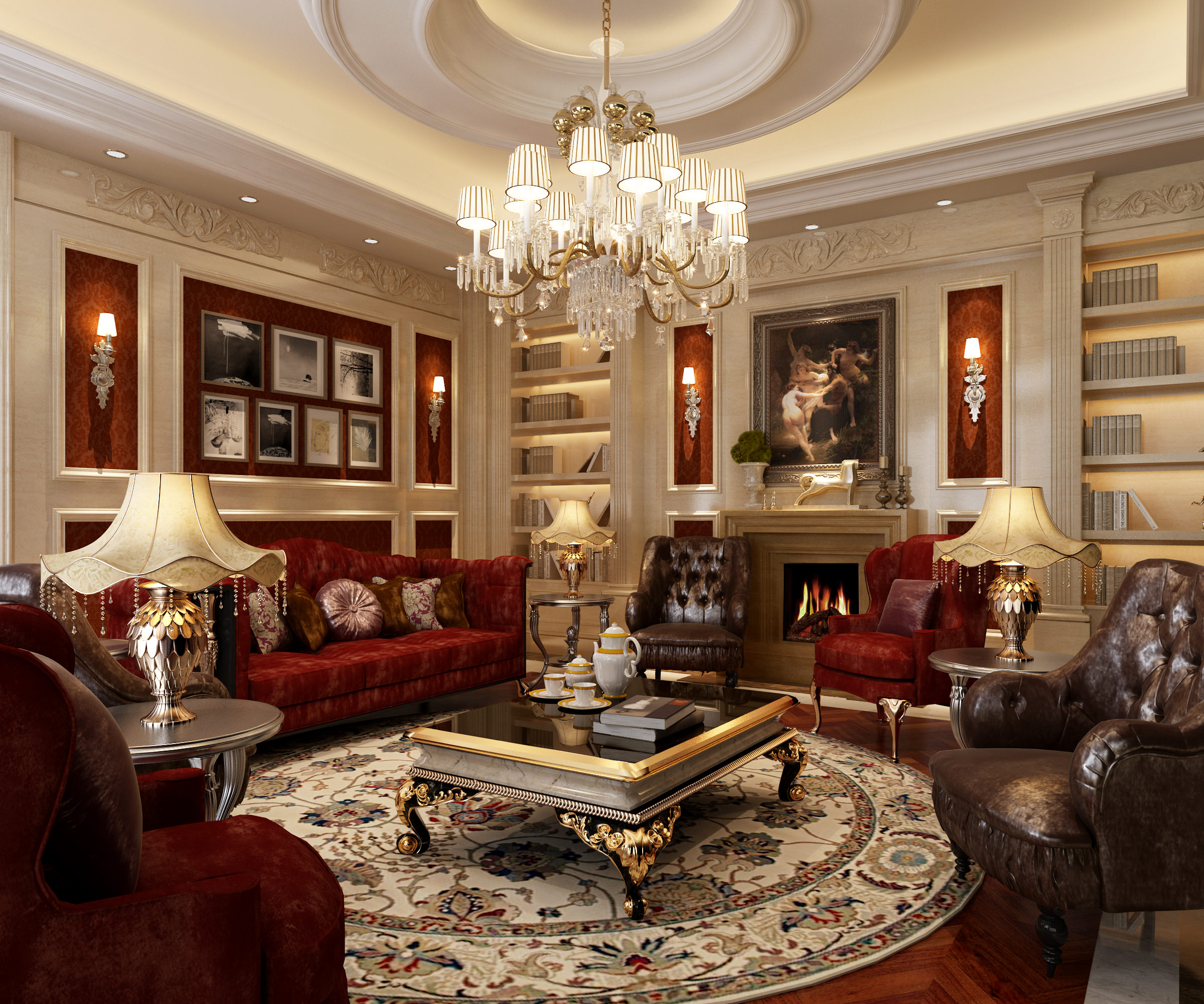 Luxury Living Room 2400 x 2001