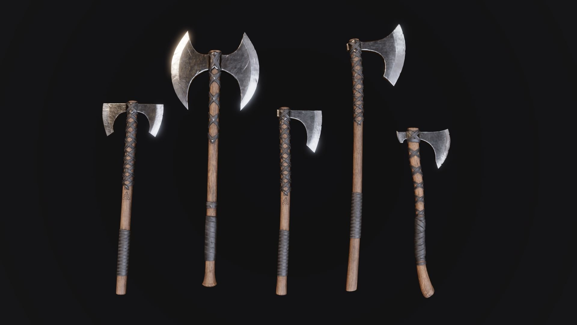 Viking Axes - Realistic Game Ready Pack