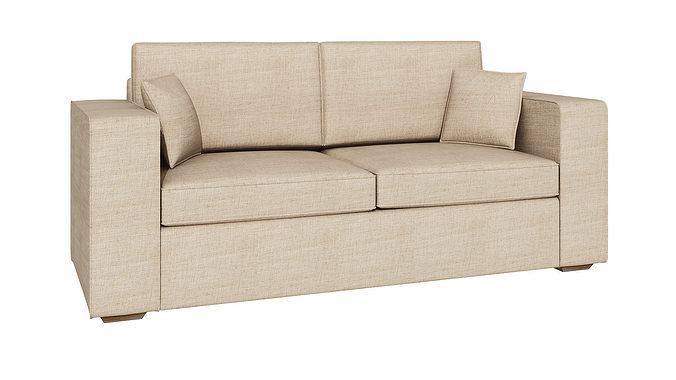 soft sofa 232 3d model max fbx unitypackage prefab 1