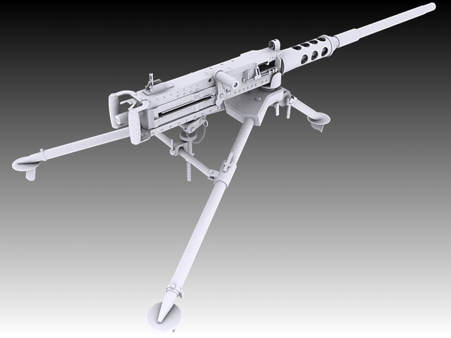 browning m2 3d model max obj 3ds stl wrl wrz 5