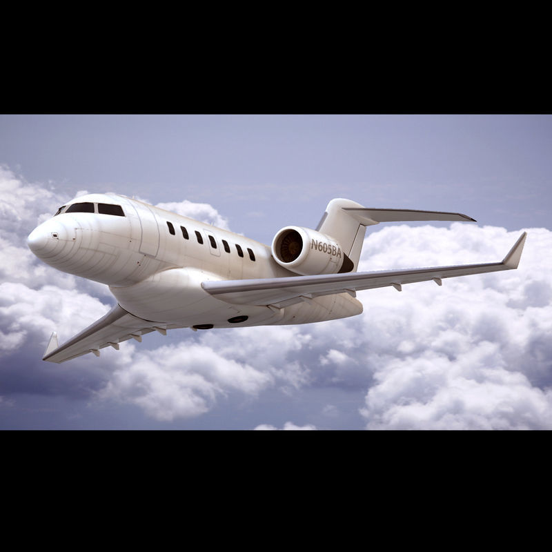 Bombardier Challenger 605 Generic White
