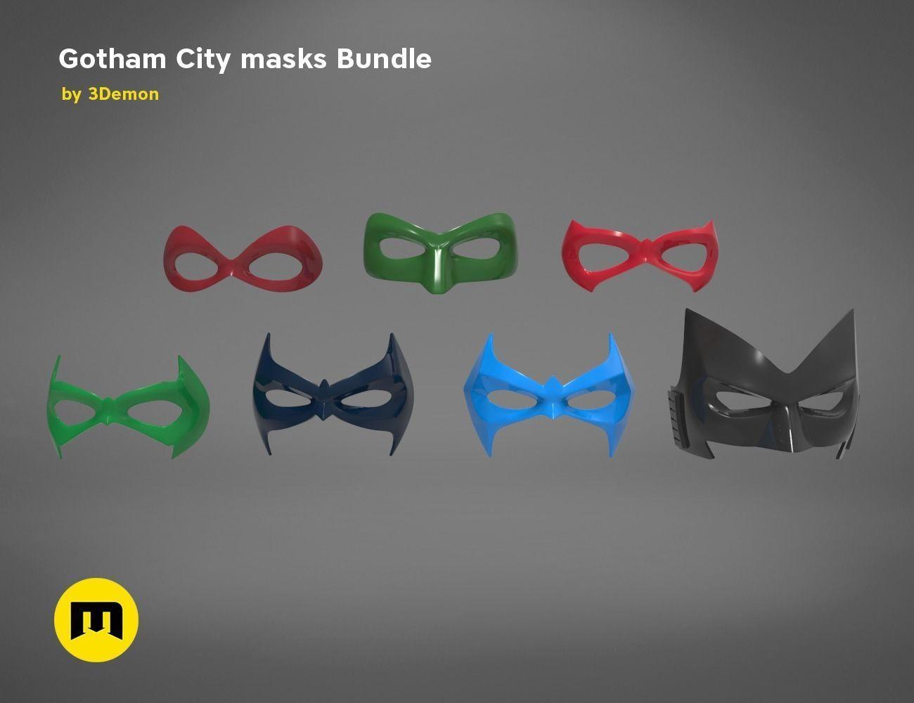 Gotham City mask bundle