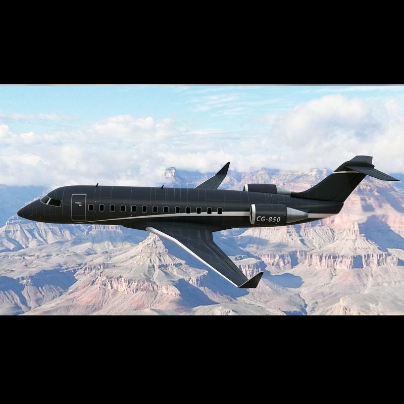 Bombardier Challenger 850 Private Black