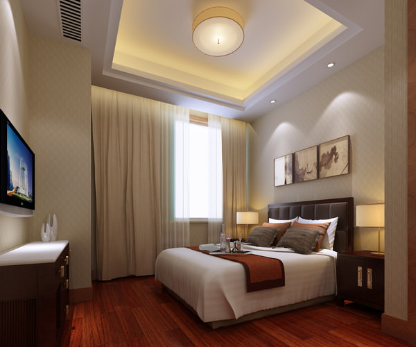 Luxury bedroom3D model