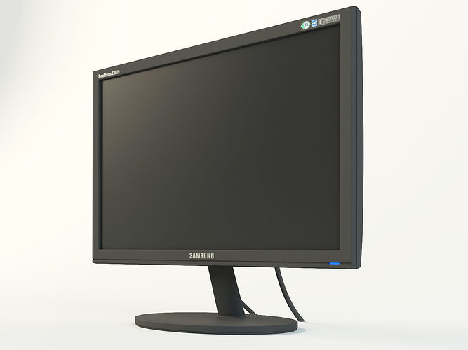 Monitor LCD Samsung SyncMaster E2020 3D Model MAX OBJ FBX ...