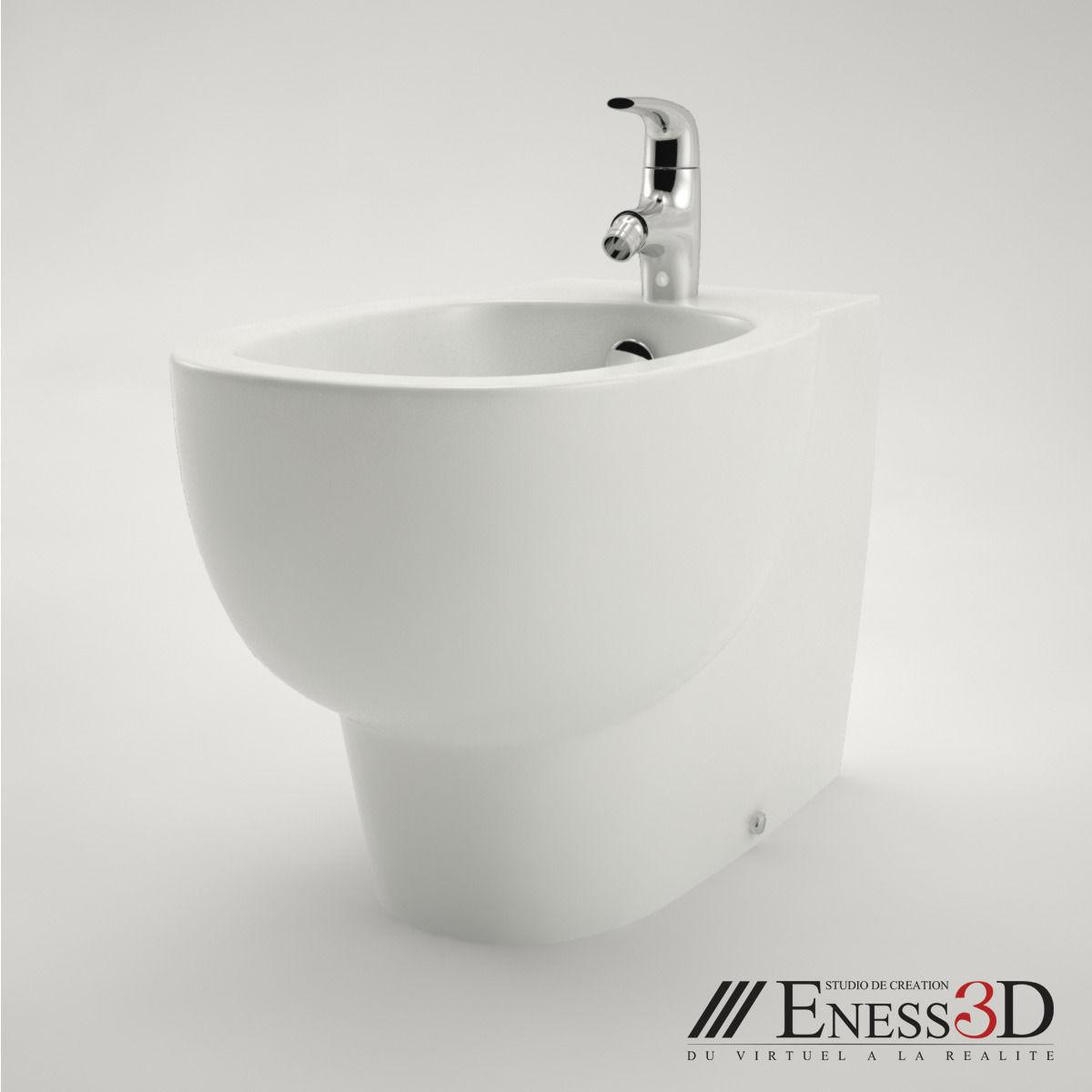 pro bidet jacob delafon ove e1705 3d model max obj fbx. Black Bedroom Furniture Sets. Home Design Ideas
