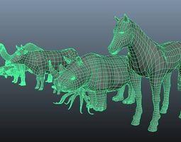 3D Lowpolygon Animals ver 1 3D Model