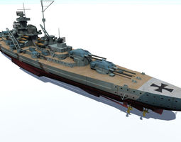 Bismarck battleship 3D model