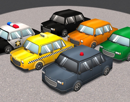 3D model Cartoon Cars pack 2