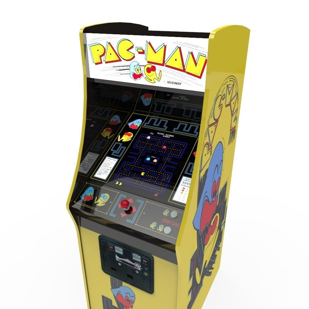 pacman arcade cabinet 3d model game ready fbx ma mb. Black Bedroom Furniture Sets. Home Design Ideas
