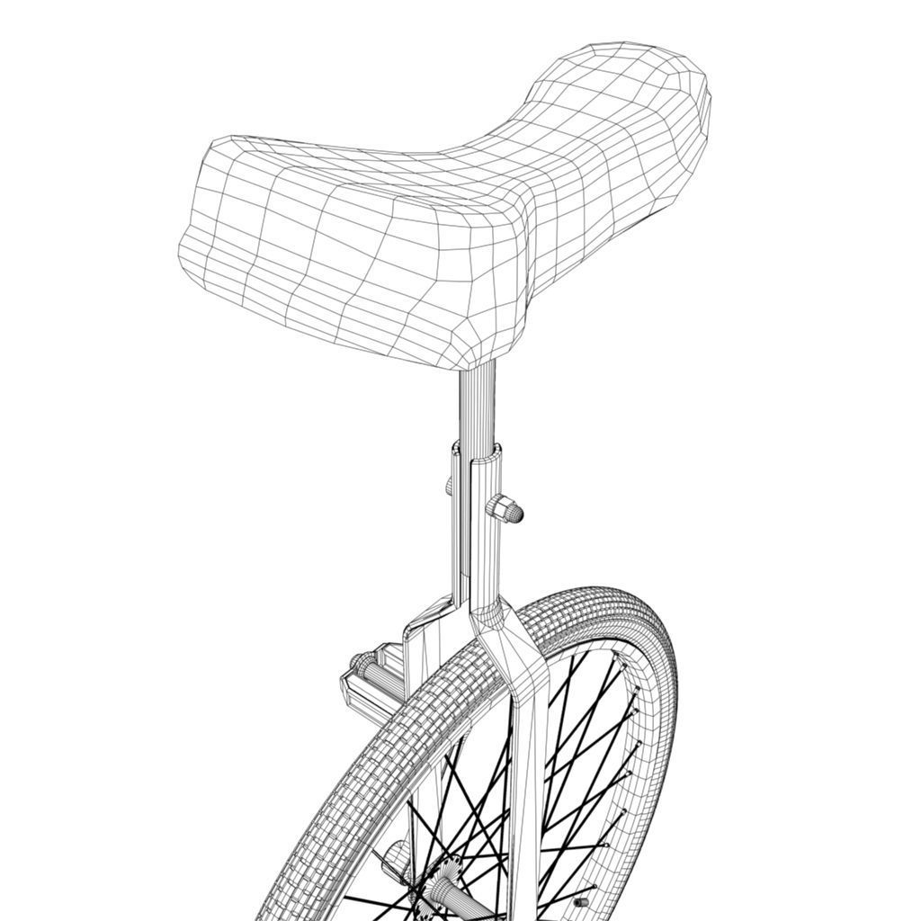 unicycle 3d model game ready  fbx  ma  mb