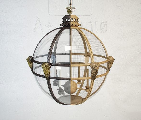 jamb mask globe lantern 3d model max obj mtl fbx 1