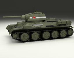 T34 76 Tank 3D model
