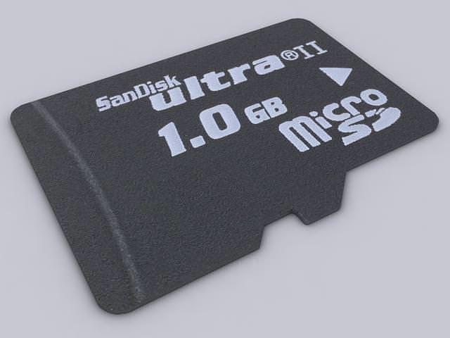 microsd 3d model max obj mtl 3ds fbx unitypackage prefab 1