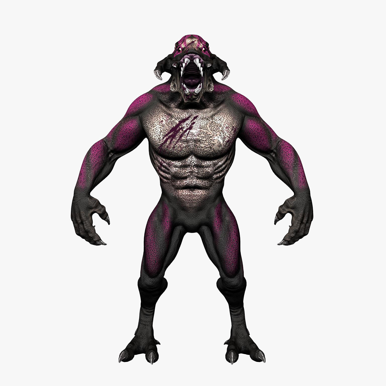 Monster 3d model game ready max obj 3ds fbx for Monster 3d model