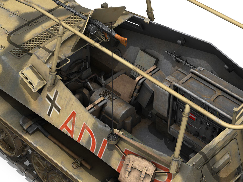 Sd Kfz 250 3 Adler Halftrack Command V 3d Model