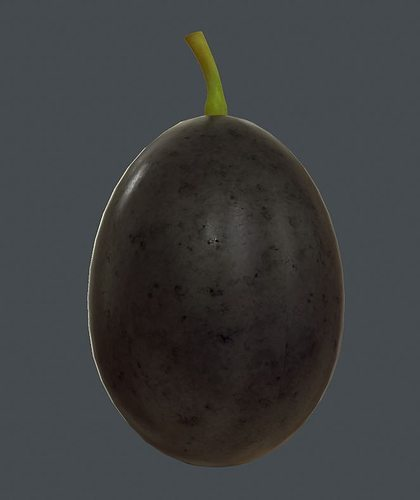 grape 3d model low-poly obj fbx ma mb tga 1