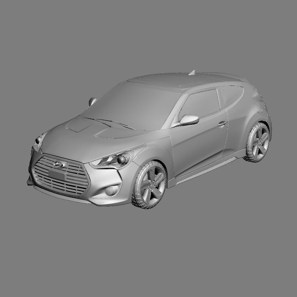 Used Hyundai Veloster Turbo Nc: Hyundai Veloster Turbo 2013 3D Model .max .obj .ma .mb
