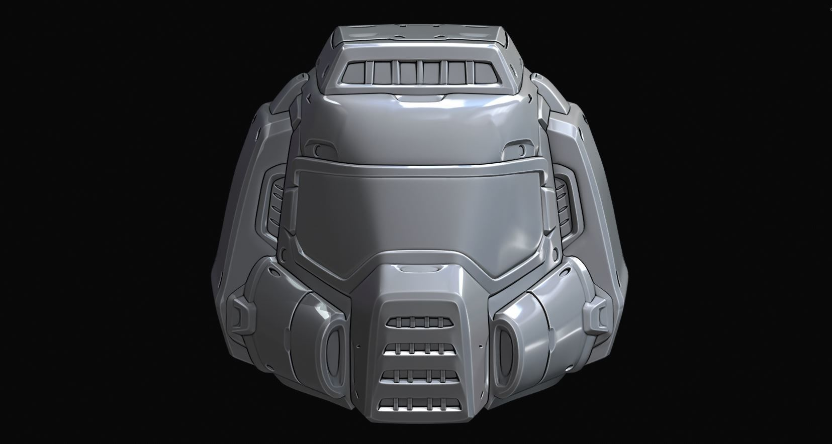 3d Print Model Replicas Doom Guy Classic Helmet Cgtrader