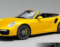 Porsche 911 Turbo Cabriolet 2018 3D