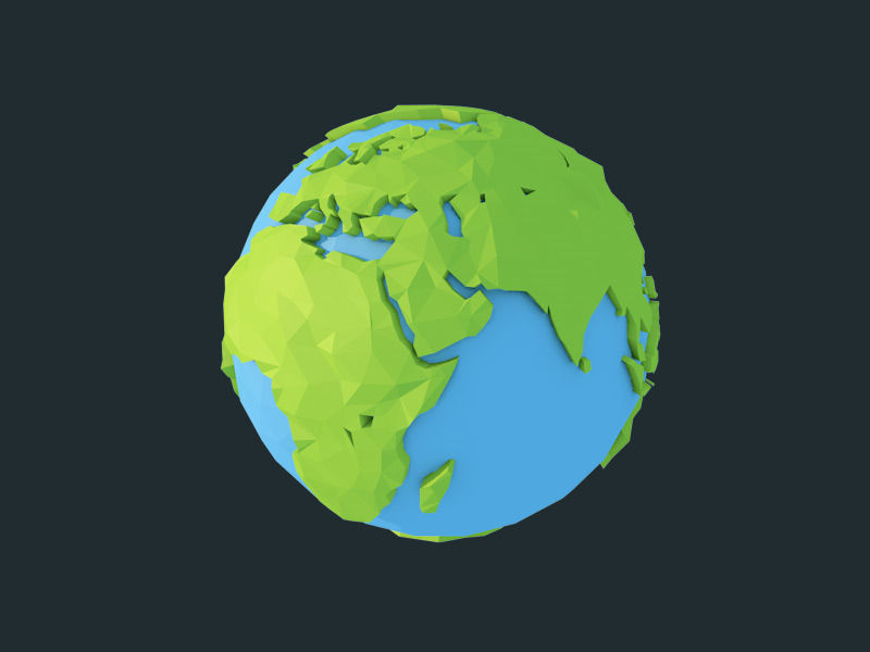 Low poly earth 3d model cgtrader low poly earth 3d model low poly obj fbx c4d 5 sciox Gallery