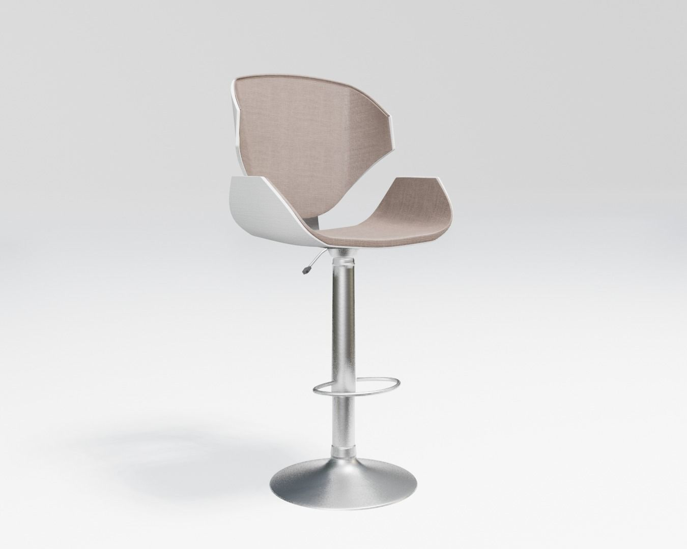 high stool - beige fabric