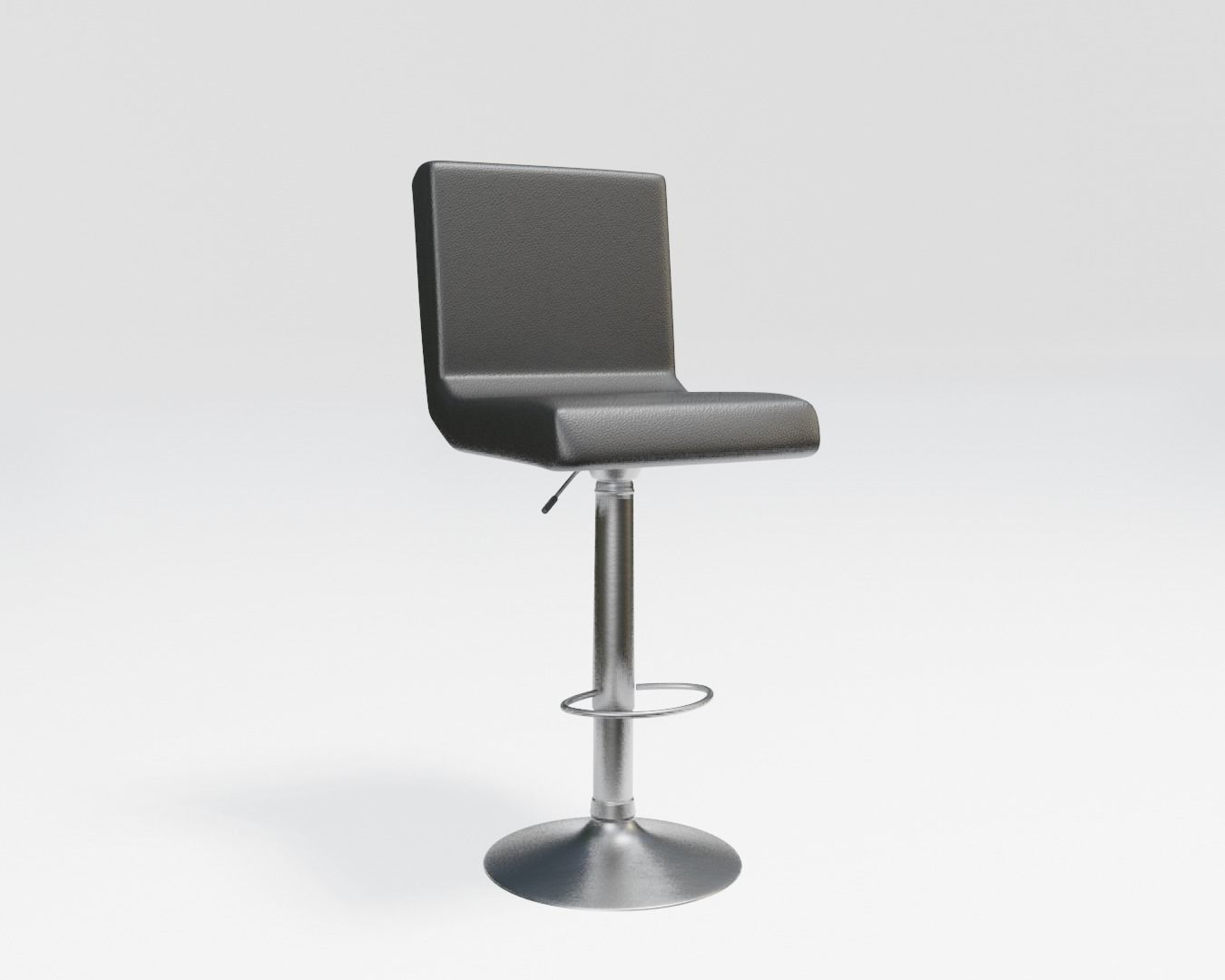 black leather modern bar stool