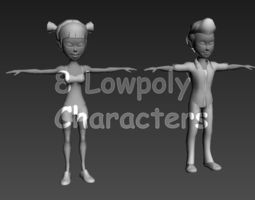 Lowpoly Characters 3D Model