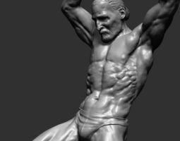Dynamic Figure Printable 3D Model