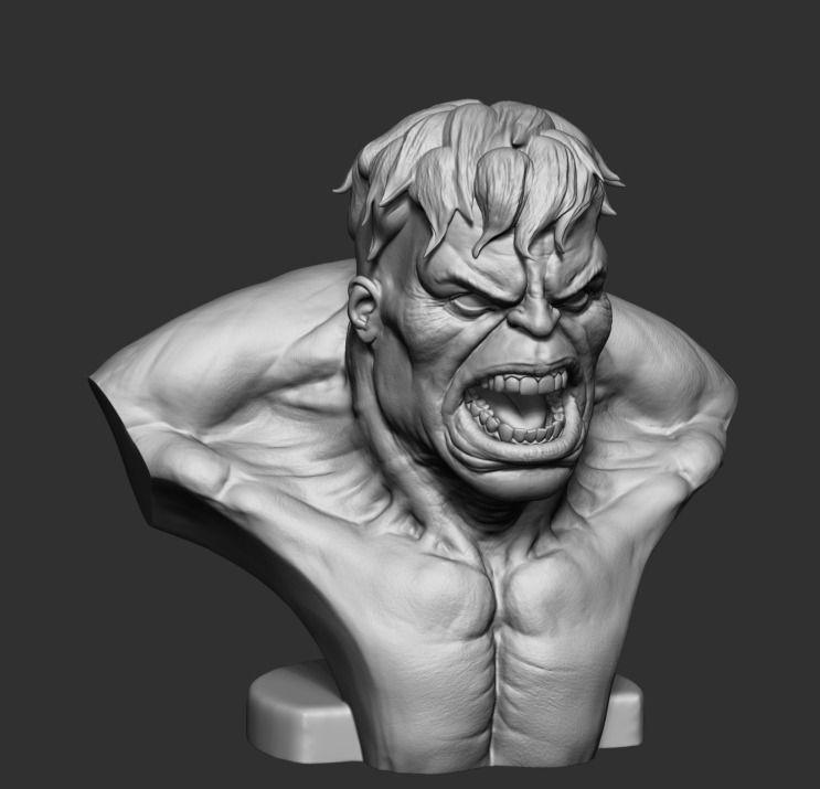 Hulk Bust Printable 3D Model 3D Printable .stl