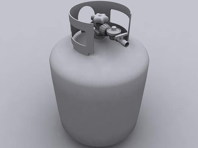 Propane tank d model max obj ds stl wrl wrz