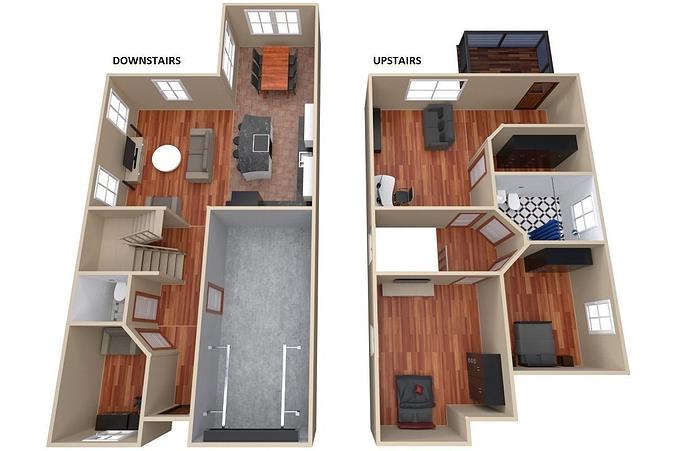 House   Floor Plan 3d Model Obj 3ds Fbx Blend Dae 1 ...