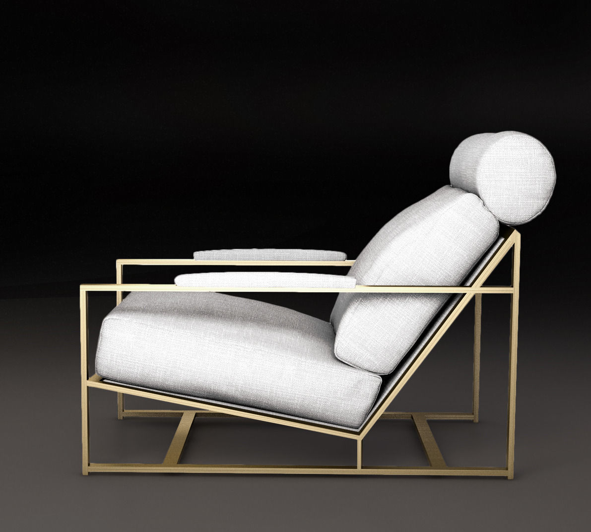 Merveilleux Milo Baughman 1965 Armchair Milo Chair 3d Model Max Obj Mtl Tga 1