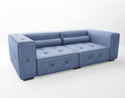 3d model denim couch