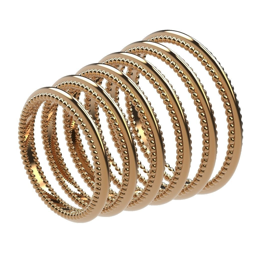 A Package 6 Classic Minimalism Ring Boho Set All Size