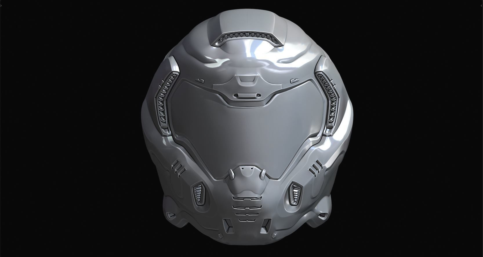 Doom Guy 2016 Helmet Detailed 3d Print Model Cgtrader