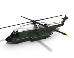 S-92 Marine One VXX Program Helicopter 3D Model