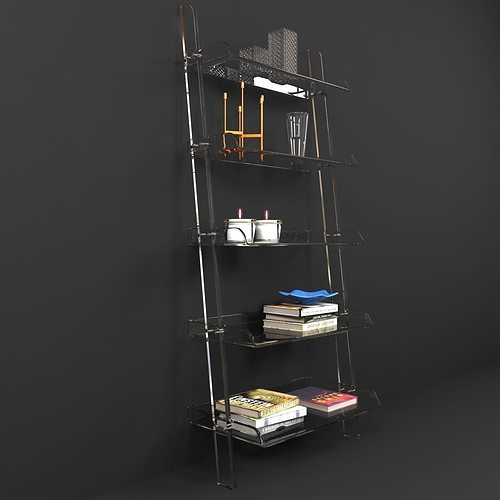 Wisteria ACRYLIC LEANING BOOKSHELF 3D Model