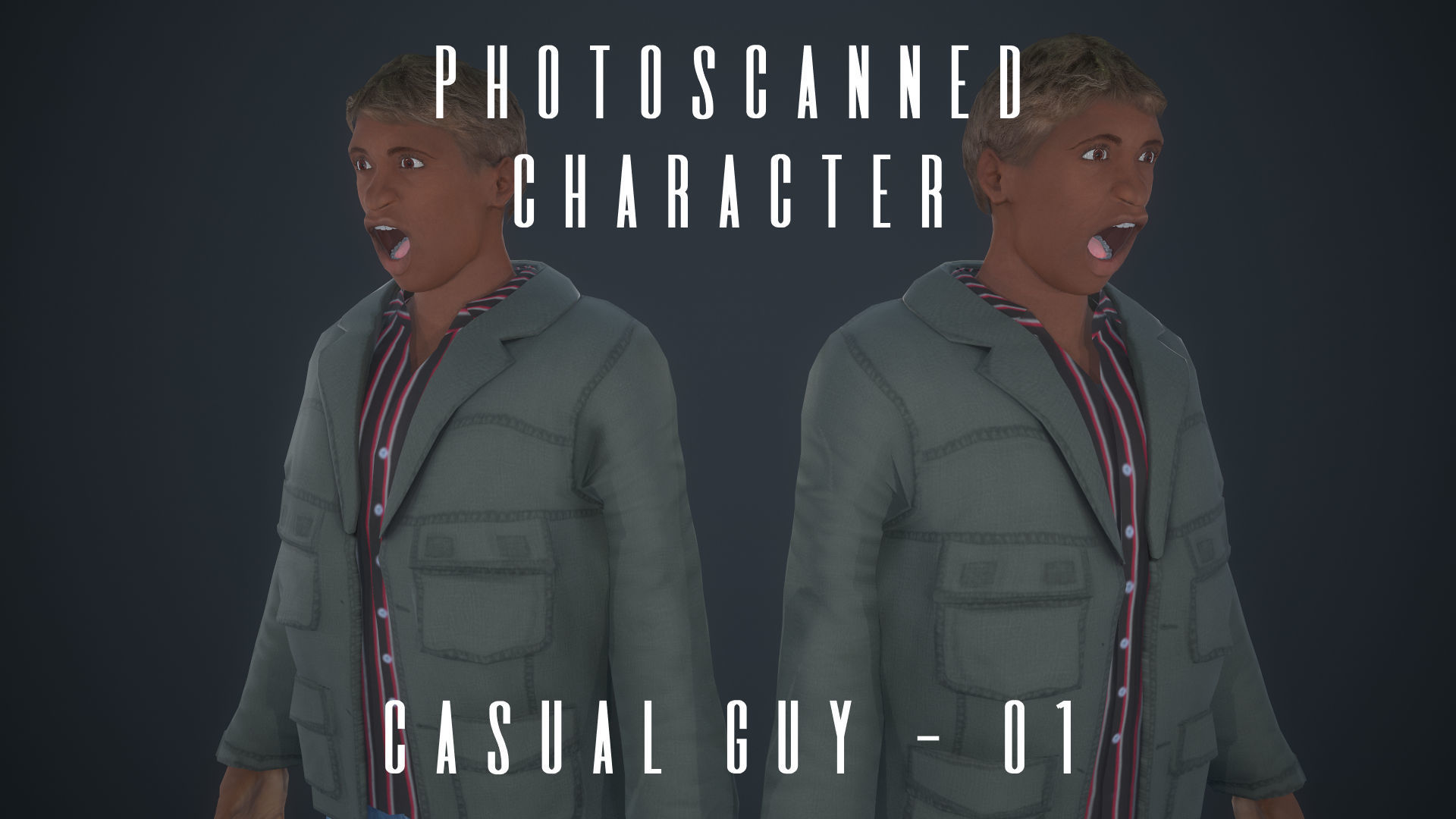 Photoscanned Character - Casual Guy 01